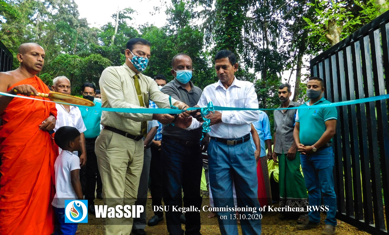 Commissioning of Keerihena Rural Water Supply Scheme in Kegalle District